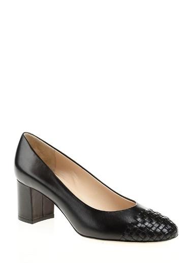 Kısa Kalın Topuklu Deri Ayakkabı-Divarese